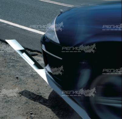 Демонстрация наезда на столбик дорожный стилфлекс
