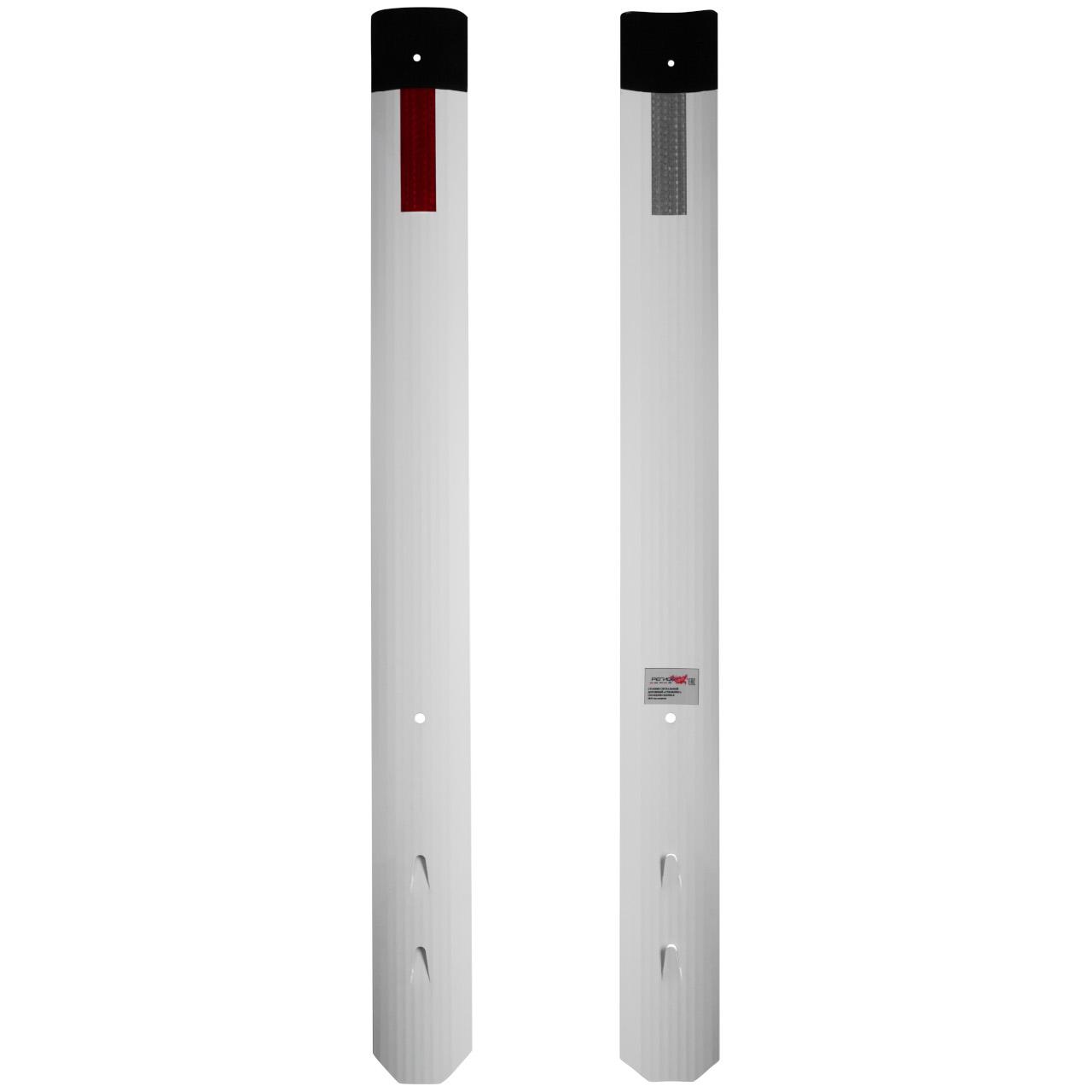 Столбик сигнальный дорожный стилфлекс с прямым верхом с пленкой вид спереди